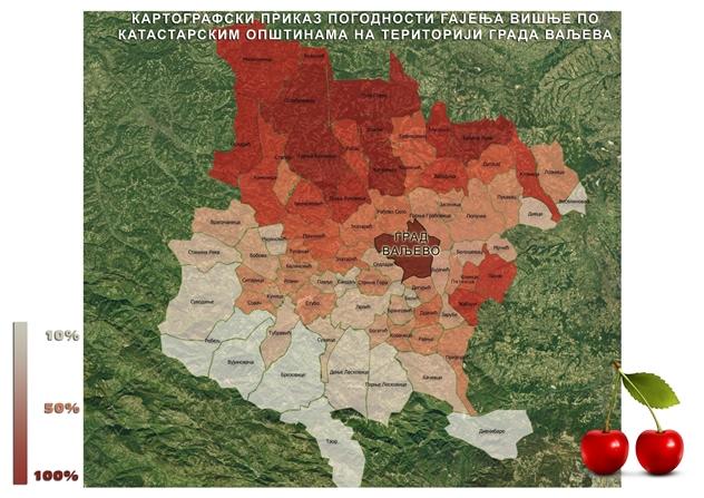 Karta plodnosti obradivog poljoprivrednog zemljišta valjevskog kraja
