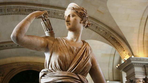 Skulptura Dijane, boginje lova kod Rimljana