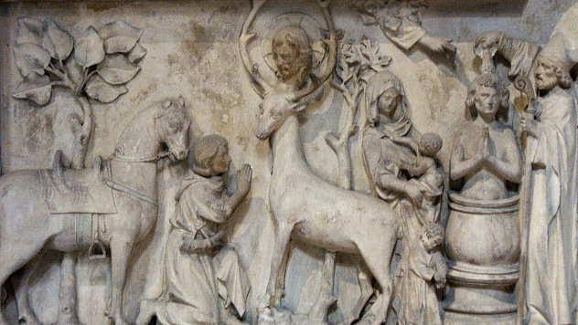 Sveti Jevstatije, ukras na kamenu