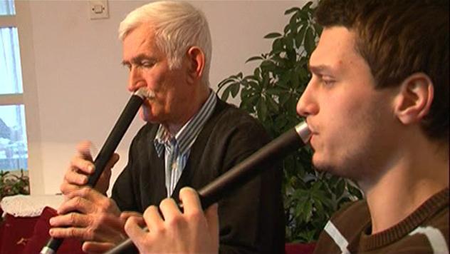 Duet - Srećko i Darko sa svojim omiljenim instrumentima - © Danijela Jovanović