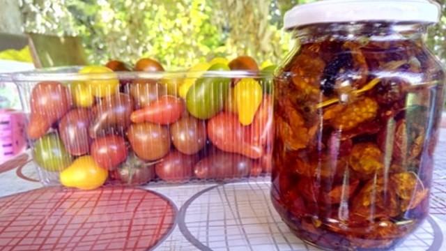 Delikates iz Srbije: Sušeni čeri paradajz u maslinovom ulju- © Dejan Davidović Agromedia