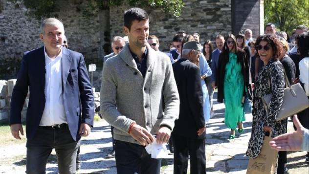 Novak Djokovic u Studenici - © Goran Mihailovic/ Agromedia