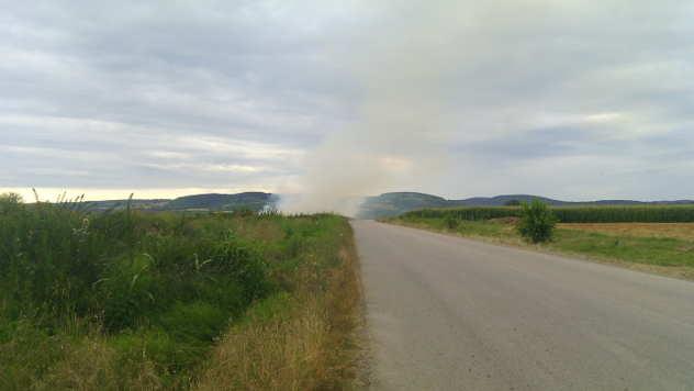 Paljenje smeća na divljoj deponiji  - © Mirjana Tadić/Agromedia