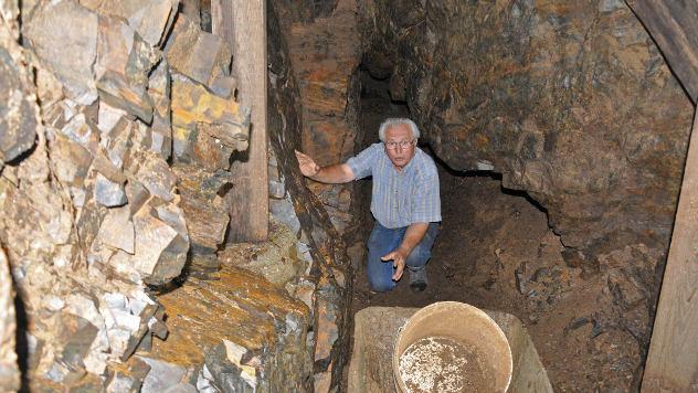 Branislav Pašajlić u hodniku rudnika © Foto: Biljana Nenković