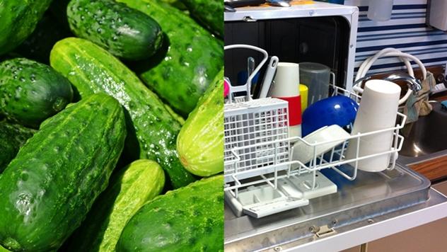 Krastavci i mašina za sudove - © Pixabay
