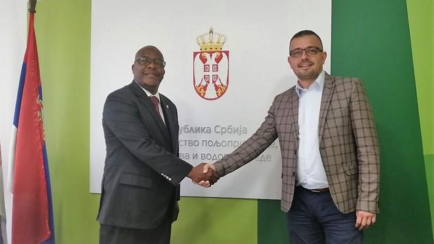Ministri Lesego i Nedimović  © Ministarstvo poljoprivrede, šumarstva i vodoprivrede