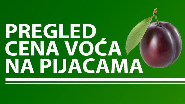 Cene voća na zelenim pijacama za period 01-05.08.2016.