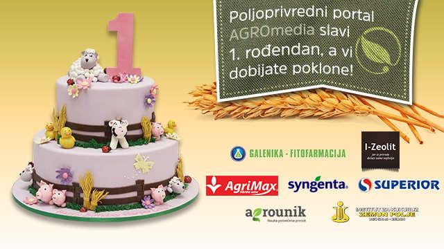 Vesti - Poljoprivredni portal Agromedia danas slavi 1. rođendan! Mi slavimo, a vi DOBIJATE POKLONE!
