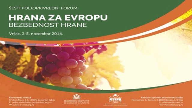 """Vesti - Na forumu """"Hrana za Evropu"""" glavna tema unapređenje kvaliteta srpske agroprivrede"""