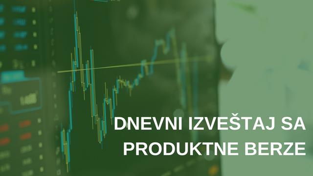 Dnevni izveštaj sa Produktne berze za 21.05.2018